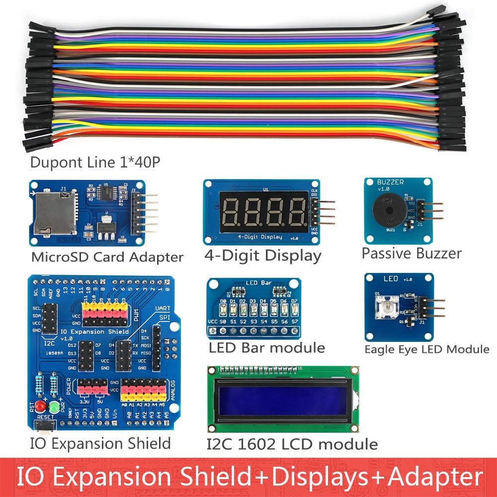 Image 4 - Rich UNO R3 Atmega328P Development Board Sensor Module Starter Kit for Arduino with IO Shield MP3 DS1307 RTC Temperature Sensor-in Industrial Computer & Accessories from Computer & Office
