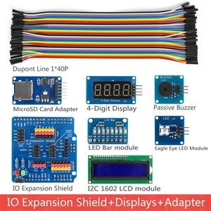 Image 4 - Rich UNO R3 Atmega328P Development Board Sensor Module Starter Kit for Arduino with IO Shield MP3 DS1307 RTC Temperature Sensor