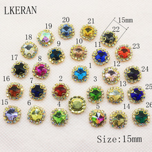 NEW 29 colours 10pcs Metal Acrylic buttons DIY Diamond Rhinestone button Flat back Invitation gail hair bowknot Flower Accessor