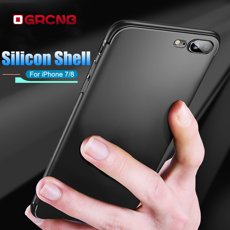 Luxury Soft Silicon Full Cover Case For iphone 7 8 6 6S 5 5S SE Slim TPU Matte Case For iPhone X 6 6S Plus 7 8 Plus Phone Coque