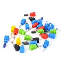5 видов керамических сверл для ногтей, аксессуары для маникюрной машины, вращающиеся электрические пилки для ногтей, инструменты для маникюра