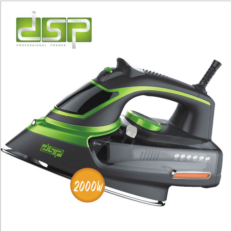 DSP adjustable steam iron self cleaning ceramic coated board safely cut off 50hz 2000w 220 240V