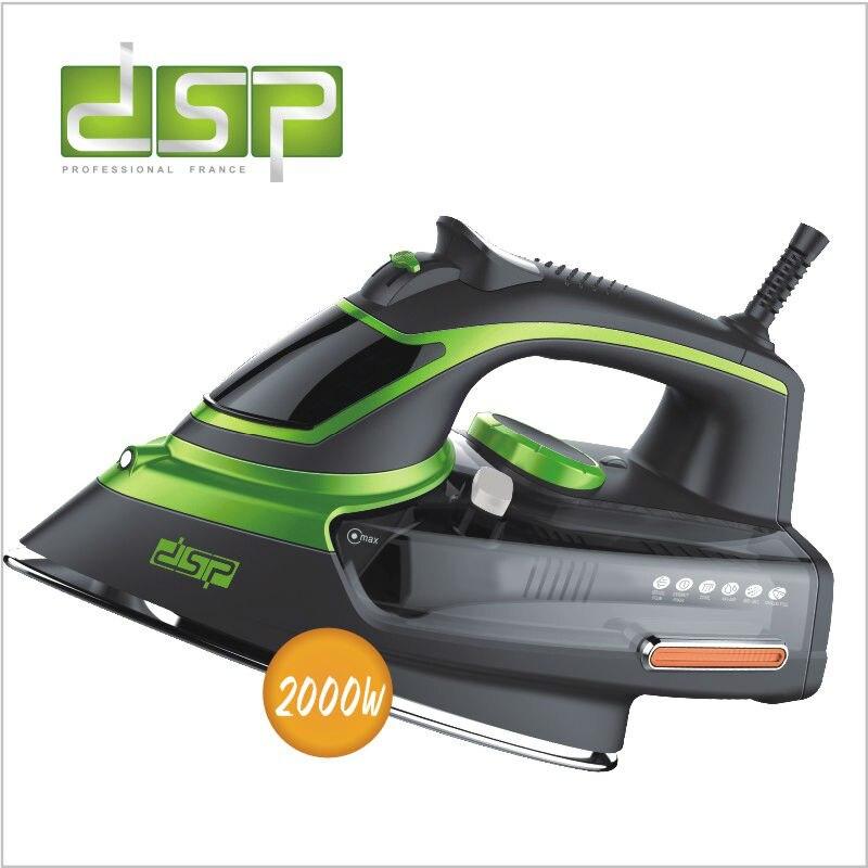 DSP ajustável ferro a vapor placa de cerâmica revestida de auto-limpeza com segurança cortado 50 hz 2000 w 220-240 v KD1004