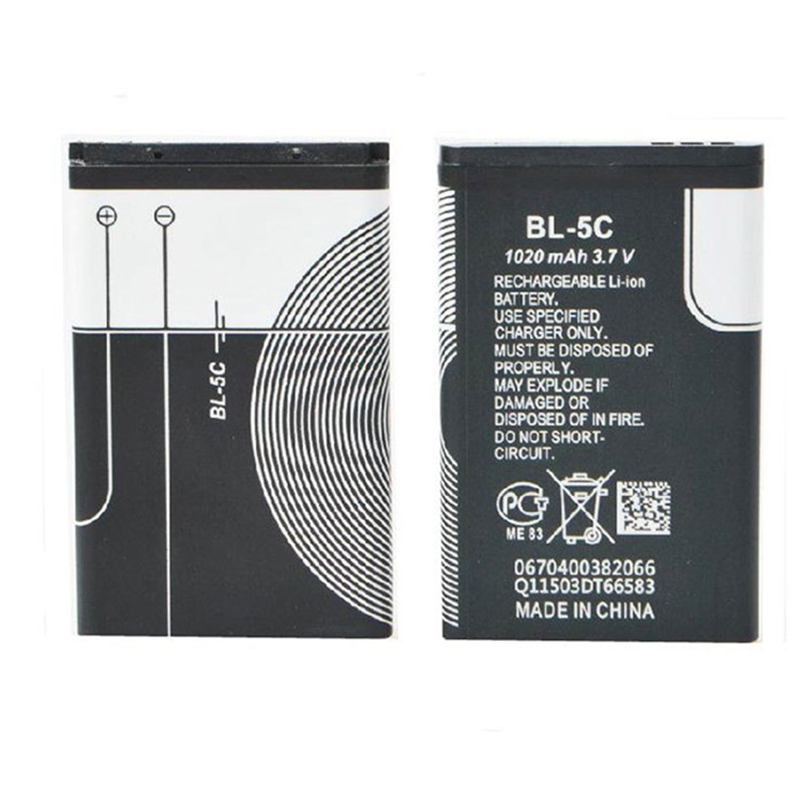 1020mah BL-5C BL5C BL 5C Replacement Li-ion Battery For <font><b>Nokia</b></font> 6230 6330 6263 6267 6270 6555 <font><b>6300</b></font> C2-01 Mobile <font><b>Phone</b></font> Batteries image