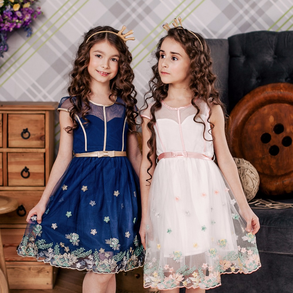 DKDGNY 3-10 Year Girls Lace Dress Princess Dress for Baby Girls Dress Summer 2018 Kids Brand Party Dresses Children Clothing 2018 summer new girls clothing lace mesh splicing baby dresses for girl party princess dress fashion petal kids girls dresses