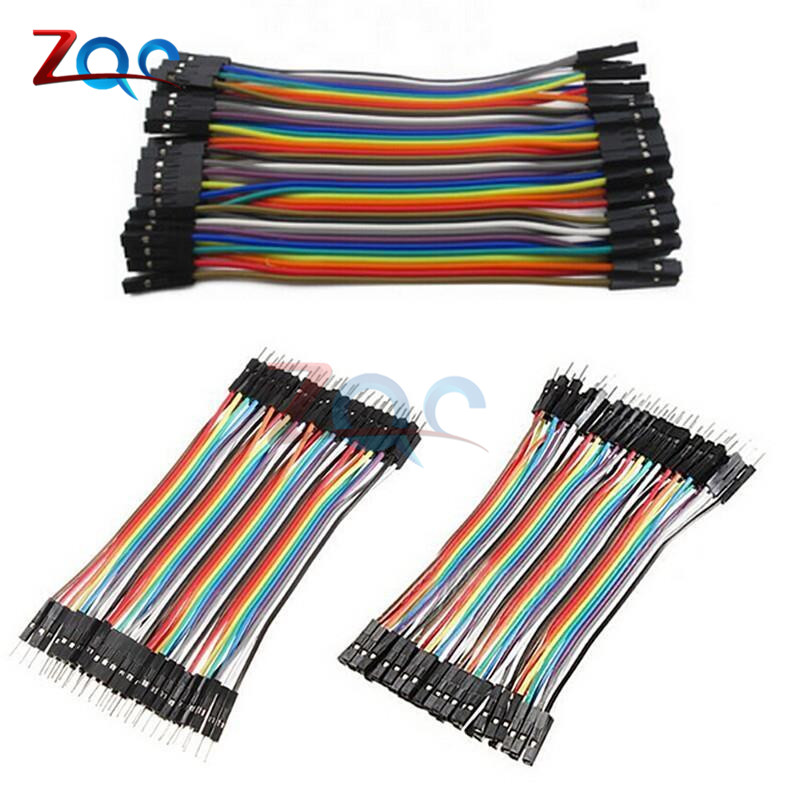 Dupont line 120pcs 40P 10cm Male to male, Female to male, and Female to female Dupont Cable Connector Breadboard Jumper Wires 50cm 4p double headed dupont line male to male 4pin revolution color connecting line