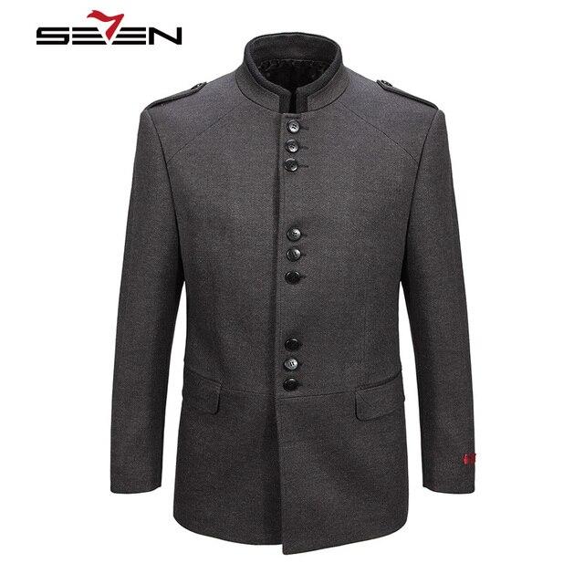 Seven7 2017 New Winter Men Wool Trench Coat Men Long Trench Slim ...