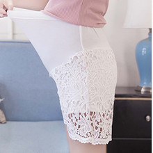 womens clothing 2019 Maternity pants elastic waist short Summer Stretch Wear Pregnant Women Solid Lace Safety high waist shorts cheap SAGACE Polyester Cotton Natural Color Regular casual and fashion shorts Chiffon Style Fashion Material Lace ropa embarazada verano