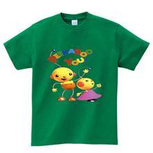 Детские Мультяшные футболки для мальчиков и девочек с роботом