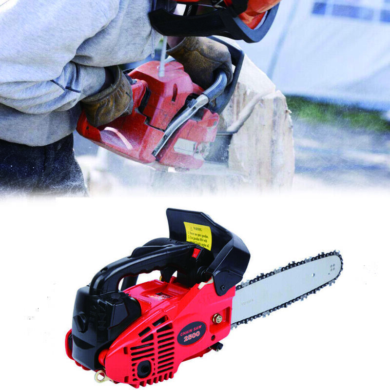 Yonntech 25.4CC 10 Inch Petrol Top Handle Chainsaw GR2500 Gasoline 2-stroke Recoil Chain Saw