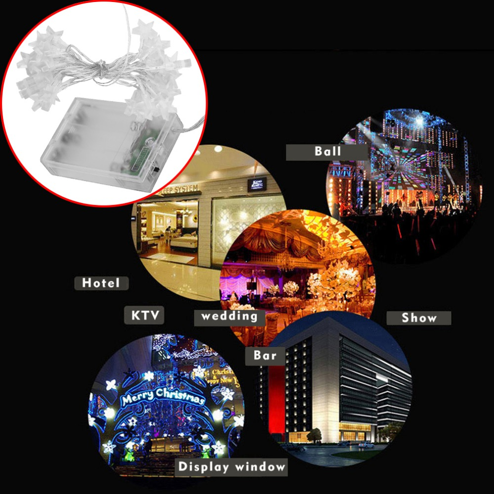3.2M 30LED Low Power Consumption Five Stars Indoor Outdoor Party Festival Wedding Party Decoration Fairy String Light Hot Sale