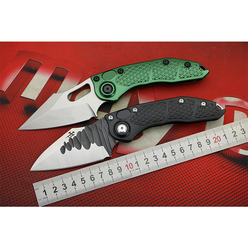 LOVOCOO Stitch D2 blade Aluminum handle Flipper folding knife outdoor tactical camping Gift EDC tool Utility