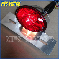 Freeshipping Motorcycle Parts Red License Plate Brake Tail Light For Harley Davidson For Ducati Monster Universal