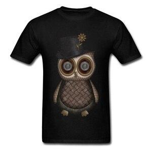 Dapper Owly Bird garçon t-shirts pour hommes décontracté été/haut d'automne & t-shirts dominant t-shirts col rond 100% coton tissu