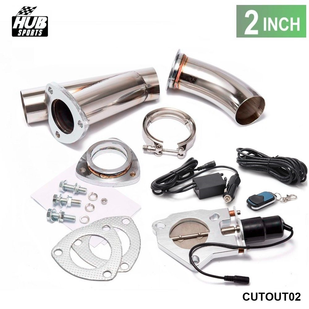 2 INCH EXHAUST CUTOUT ELECTRIC DUMP Y-PIPE CATBACK CAT BACK TURBO BYPASS STEEL For Toyota MR2 MK2 HU-CUTOUT02 tansky high quality 2 inch inch piping switch electric 2 inch exhaust dumps cutout stainless steel cutouts tk cutout02
