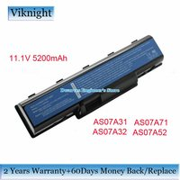 11 1V 5200mAh AS07A31 AS07A32 AS07A41 AS07A71 Replacement Battery Black For Acer Aspire 4310 Aspire 4710