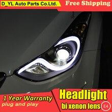 DY_L автомобильный Стайлинг Головной фонарь для hyundai Elantra 2012- светодиодный фонарь DRL H7/D2H HID Xenon bi xenon объектив