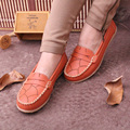 2014 summer spring casual mother works shoes ,women flats,soft driving slip-on Loafers flat women genuine leather shoes saj24
