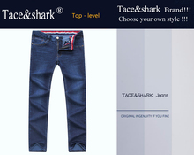Jeans man Tace&shark brand clothing jeans Straight, medium and straight cotton, Winter fabri embroidered jeans Billionaire men