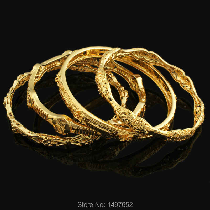 Wholesale Middle East Banglet for Women Men  Gold Color Dubai Bracelet AfricaN/Arab/Ethiopian Bracelet jewelry