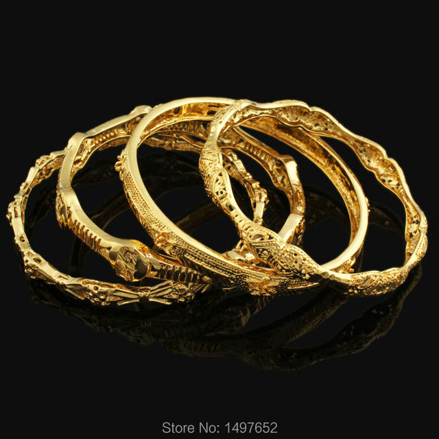Whole Middle East Banglet For Women Men Gold Color Dubai Bracelet African Arab Ethiopian