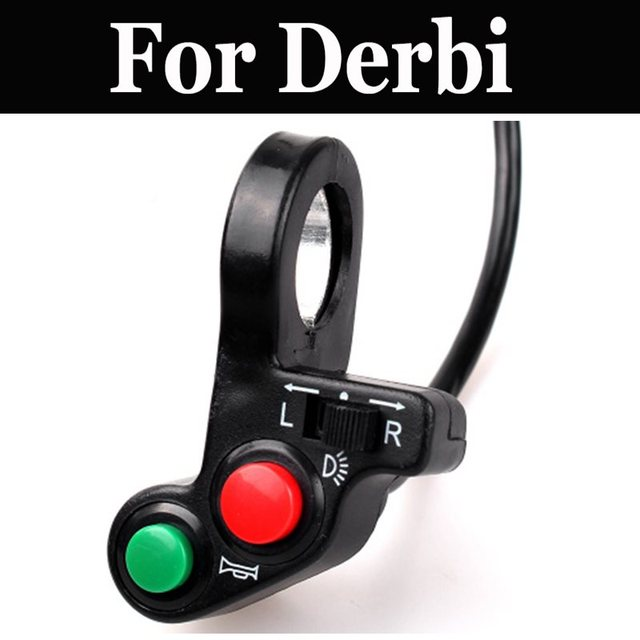 3 In 1 Electric Bicycle Horn Switch Button Motorcycle Scooter Bike Plastic Horn For Derbi Freekster Gpr Mulhacn Senda Terra 125