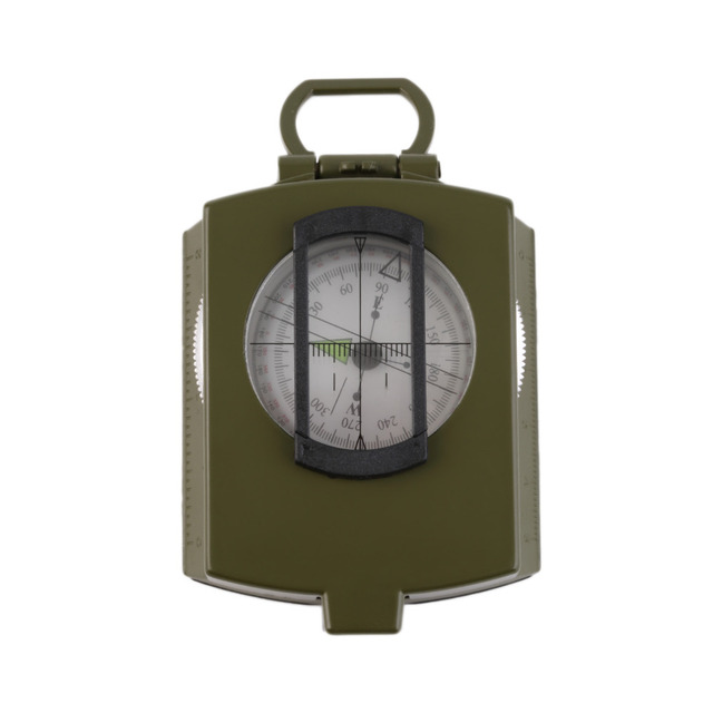 Waterproof Noctilucent Type Army Outdoor Use Military Travel Geology Pocket Prismatic Compass With Pouch free shipping
