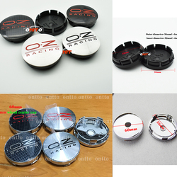 4pcs oz racing 56mm 60mm O.Z OZ Sticker Wheel Center Hub Caps Wheel Dust-proof emblem covers label car styling auto accessories