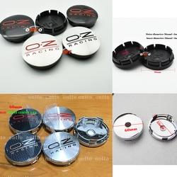4pcs oz racing 56mm 60mm O.Z OZ Sticker Wheel Center Hub Caps Wheel Dust-proof emblem covers label car styling auto accessories