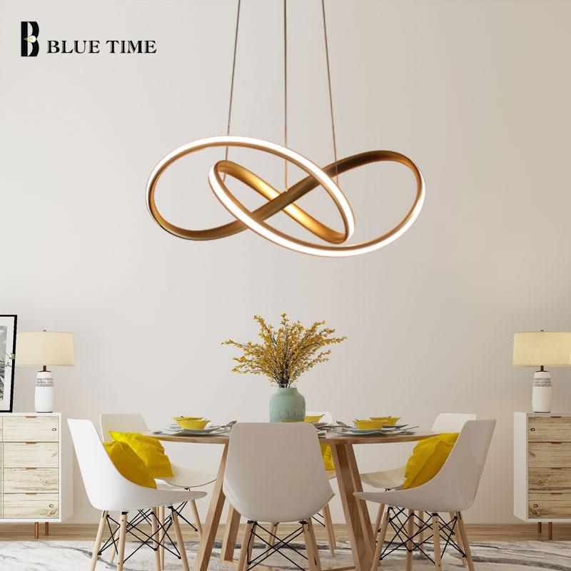 Золотой и светодио дный белый современный светодиодный подвесной светильник для гостиной спальни столовой подвесной светильник светодио ...