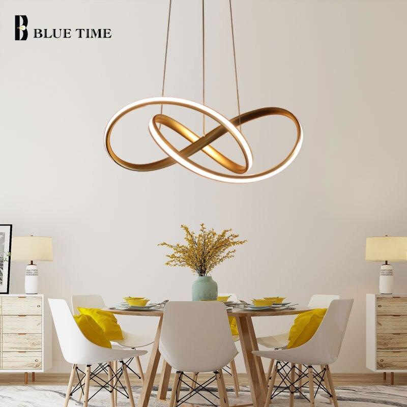 Gold & Weiß Moderne LED Anhänger Licht Für wohnzimmer Schlafzimmer Esszimmer Hängen Lampe LED Anhänger Lampe Innen Beleuchtung luminares