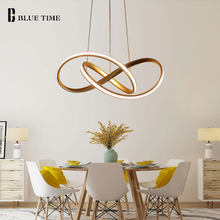 Gold&White Modern LED Pendant Light For Living room Bedroom Dining Room Hanging Lamp LED Pendant Lamp Indoor Lighting Luminares(China)