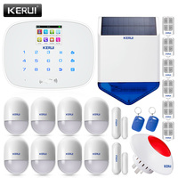 KERUI White Intelligent Wireless GMS SMS Call Home Burglar Intruder IOS Android App Security Alarm System