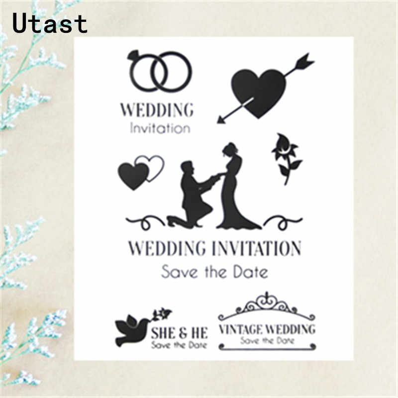 Wedding Invitation Clear Silicone Stamps Transparent Rubber Stamp For Diy Scrapbooking Photo Album Decorative Craft Making Aliexpress