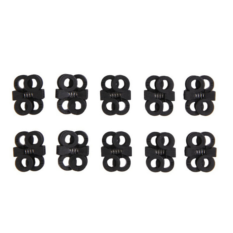 10Pcs/lot Black Adjustment Shoelace Buckle Rope Clamp Cord Locks Stopper Shoes Decorations Cross Umbrella Rope пилочка для ногтей leslie store 10 4sides 10pcs lot