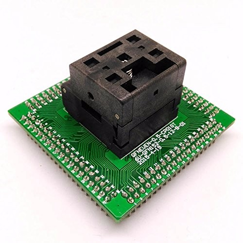 QFN64 MLF64 Burn in Socket IC Test Socket IC549-0644-008-G Pitch 0.4mm Chip Size 8*8 Flash Adapter Clamshell Programming Socket qfp40 ic test conversion chip ic programming block qfp40