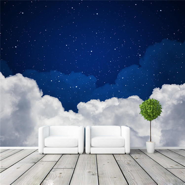 Aliexpress.com : Buy Night Sky Photo Wallpaper Galaxy Wallpaper Custom 3D  Clouds U0026 Stars Wall Murals Kids Girls Bedroom Living Room Decor Art Design  From ... Part 11