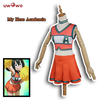 UWOWO Boku No Hero Academia Cosplay My Hero Academia Cosplay Asui Tsuyu OCHAKO URARAKA Cheerleader Uniform Anime Costume Women