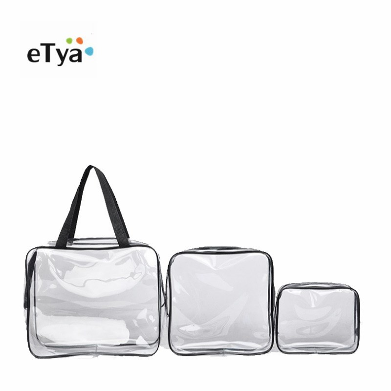 df4d062c425f US $1.47 35% OFF|Clear Makeup Bag Transparent Cosmetic Bag Women Travel  Waterproof PVC Toiletry Zipper storage Bags Makeup Organizer Case Pouch-in  ...