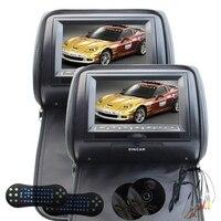 7 Car Headrest Pillow DVD Video System Support No IR Headphones Black LCD 800480 Digital Screen