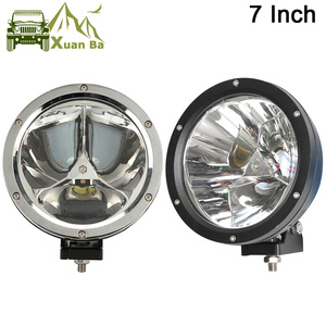 "XuanBa 2Pcs 7"" inch 45W Round Led Work Light Spot Beam 12V 4x4 Off road Boat Truck SUV ATV Headlight Driving Lights 24V Fog Lamp"