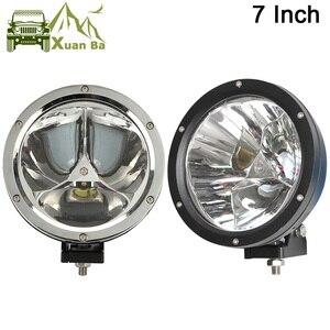 """Image 1 - XuanBa foco de luz Led redondo, 2 uds., 7 """", 45W, haz de luz 12V, 4x4, faro antiniebla para barco, camión, SUV, ATV"""