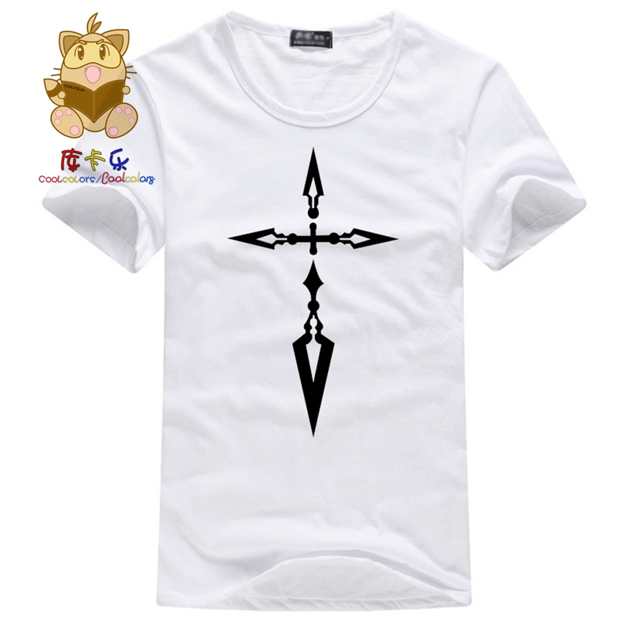 Fate zerofate stay night anime fans colorful t shirt saber emiya fate zerofate stay night anime fans colorful t shirt saber emiya kiritsugu curse logo fate t shirt saber t shirt ac151 in t shirts from mens clothing biocorpaavc