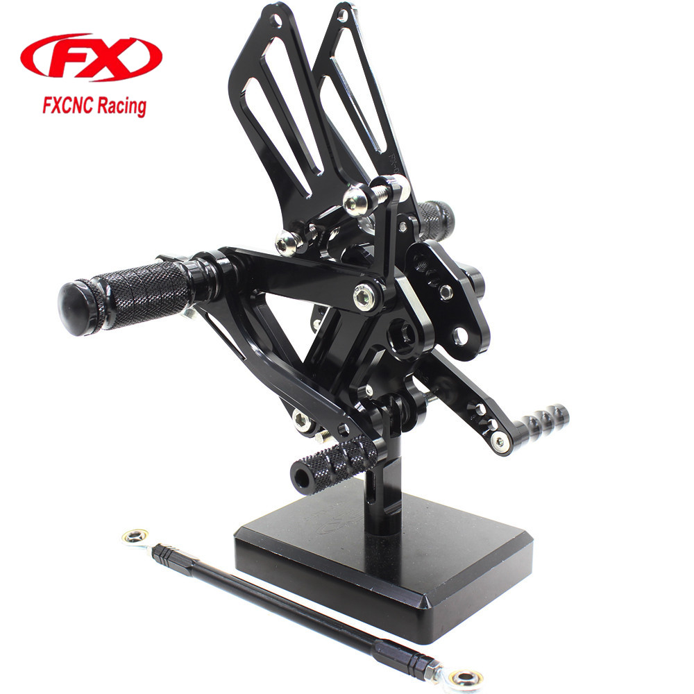 FX CNC Motorcycle Rearsets Foot Pegs Footpeg Rear Sets Brake Shift Lever For KAWASAKI ZX9R ZX 9R 1999 2000 2001 2002 2003 free shipping cnc 6 position short brake clutch lever for honda x 11 1999 2000 2001 2002