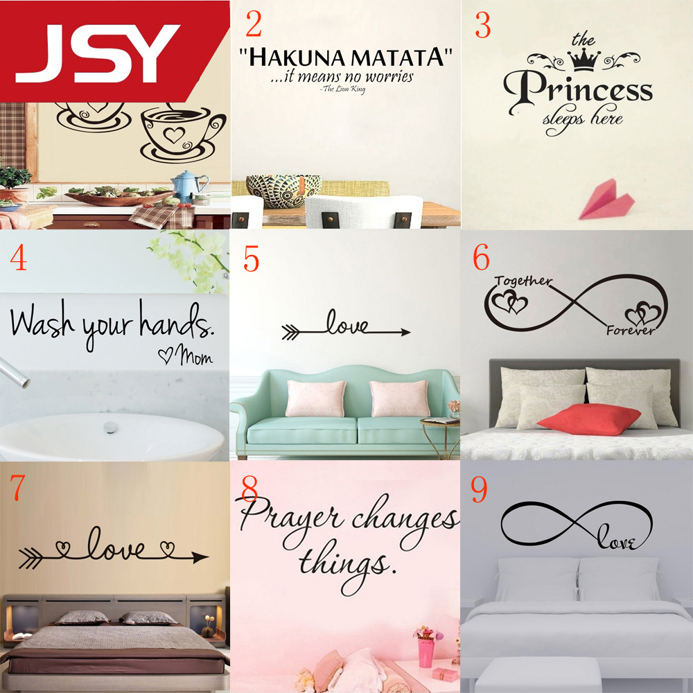 9 Styles New Fashion Removable Wall Stickers Mural Decals for Home Decoration