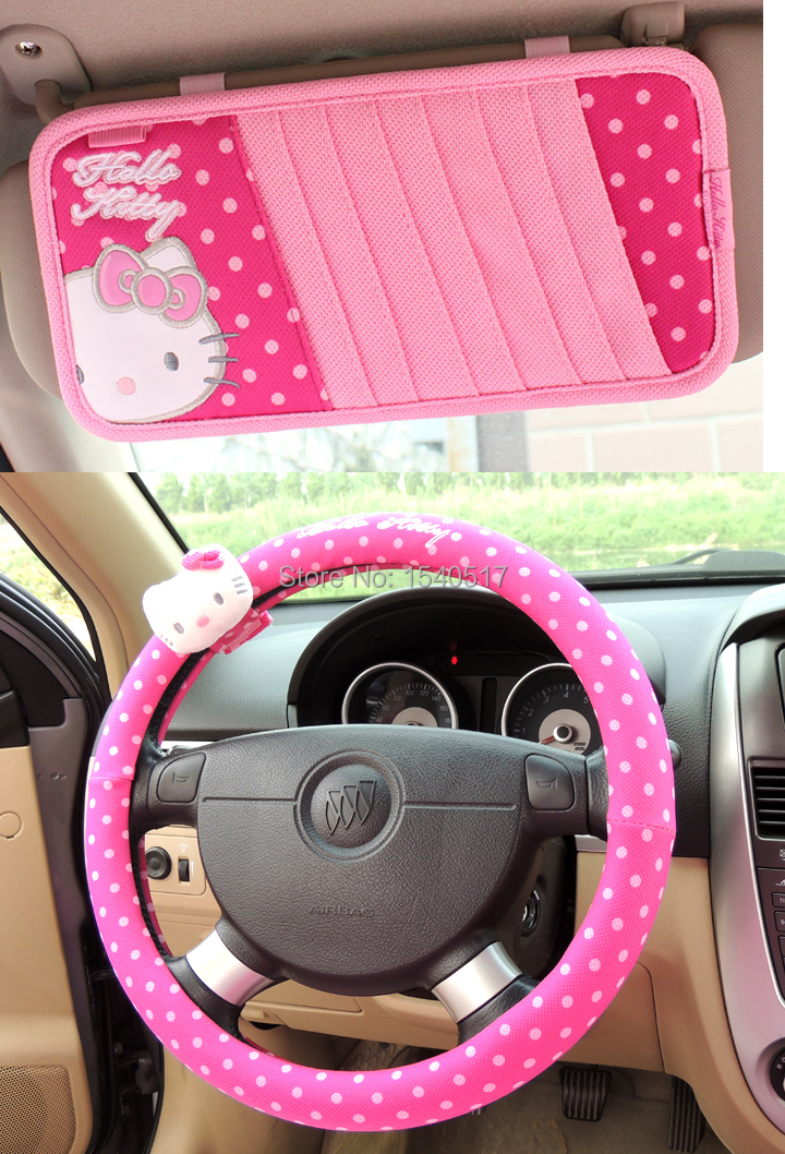 popular hello kitty auto accessory buy cheap hello kitty auto accessory lots from china hello. Black Bedroom Furniture Sets. Home Design Ideas