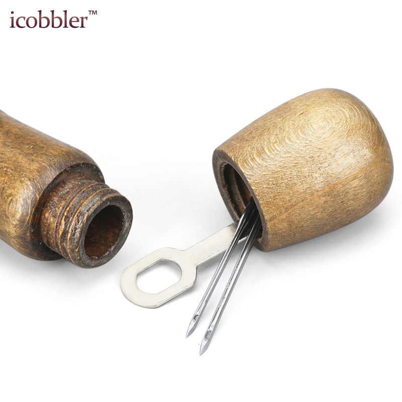 HANBIN Cuero de lona Costura de herramientas de bricolaje para artesan/ía de cuero Costura de hilo plano encerado Beige