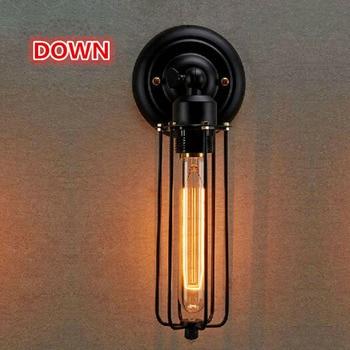 Лофт стиль винтажный промышленный настенный светильник Эдисона украшение дома освещение кафе бар настенные лампы для ресторанов Бесплатн...