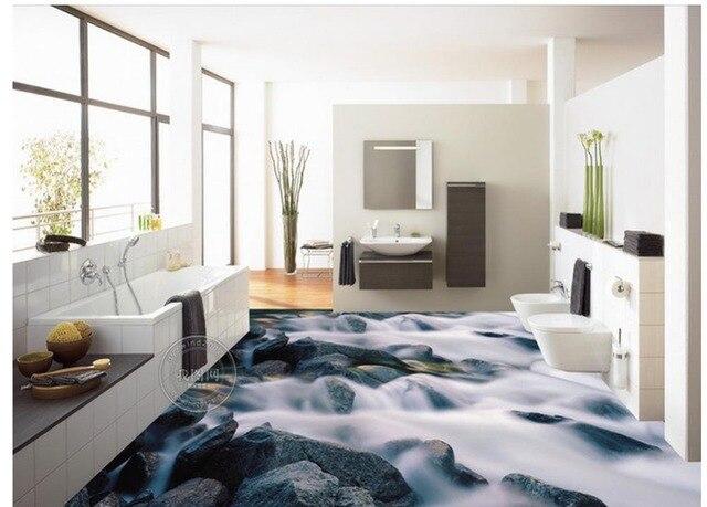 Pvc In Badkamer : 3d behang pvc 3d stone floor badkamer waterdicht behang voor