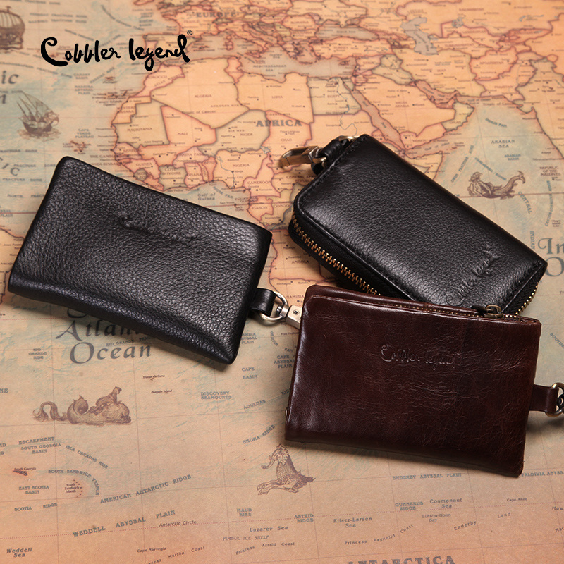 US Men Card Holder Bags Keychain Coin Purse Business Zipper Wallet Casual Clutch